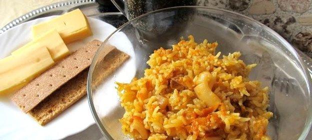 Плов с кальмаром рецепт с пошагово