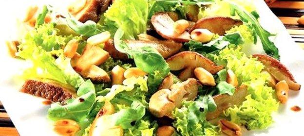Салат с белыми грибами рецепты с простые и вкусные