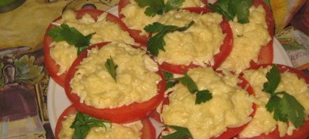 Фаршированные помидоры с сыром и чесноком рецепт с пошагово