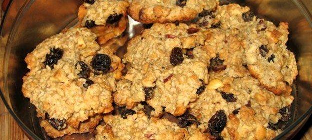 Вкусные печенья с изюмом с фото