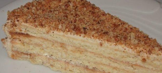 Торт песочный с кремом с пошагово