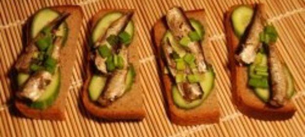 Бутерброды с шпротами пошаговый рецепт с фото