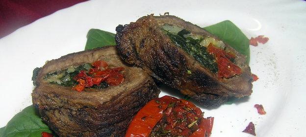 Мясо с вялеными помидорами рецепт