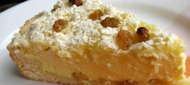 Пирог с творожной массой