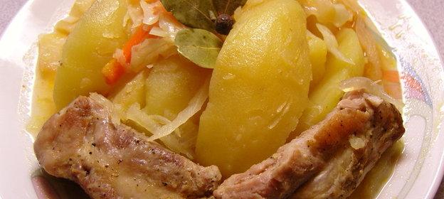 Рецепт рагу с капустой пошагово