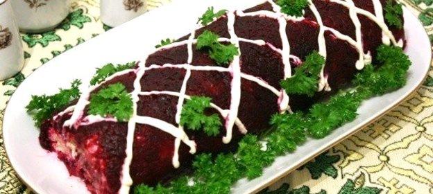 рецепты салатов сельдь под шубой рулетом
