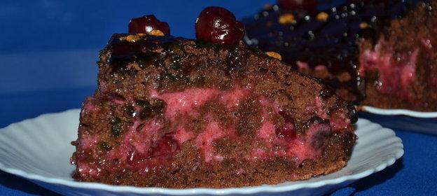 шоколадно-вишневый торт рецепты-хв2