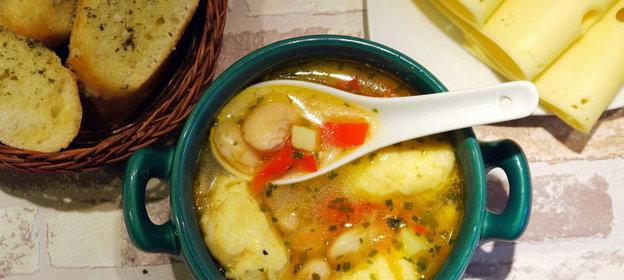 Рецепт вкусного супа с клецками с пошагово