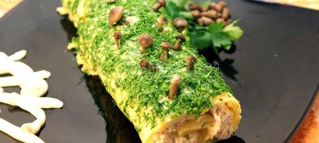 Рецепт салата полено 66