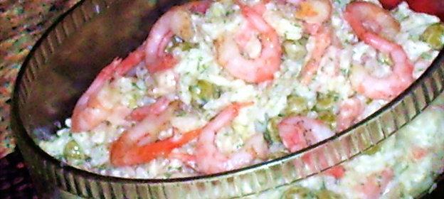 Салат из креветок простой классический