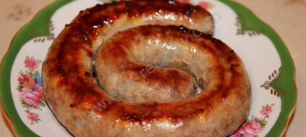 Рецепт колбаса в кишках рецепт