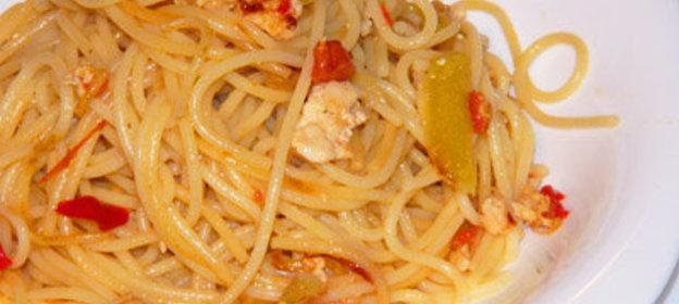 Спагетти с курицей пошаговый рецепт с