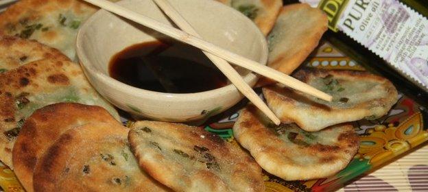 выделить китайские лепешки с луком рецепт только