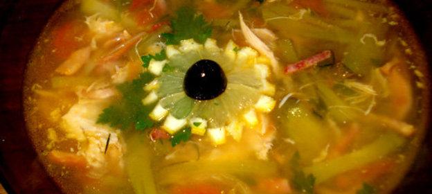 Солянка на курином бульоне рецепт пошаговый с фото