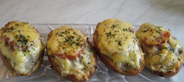 Фаршированные булочки в духовке рецепт с фото
