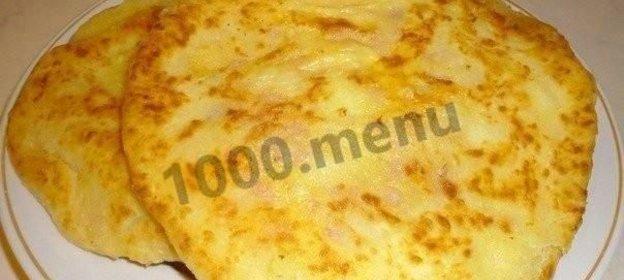 Сырные лепешки на кефире с ветчиной пошаговый рецепт