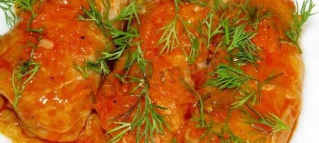 Вкусные голубцы с куриным фаршем рецепт