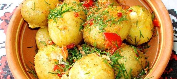 Молодой картофель духовке рецепт фото