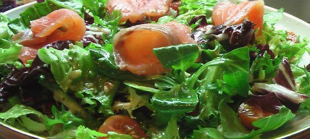 Салат с балыком фото