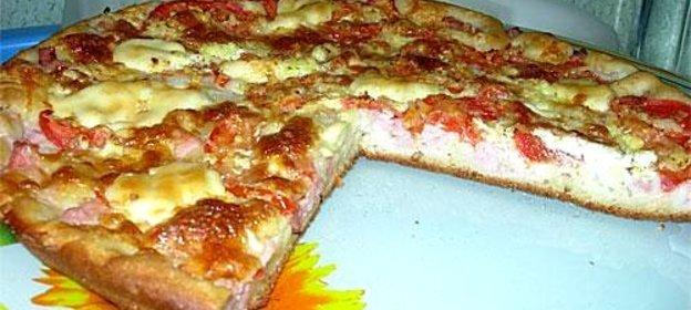 Пицца на кефире и дрожжах рецепт с пошагово в духовке