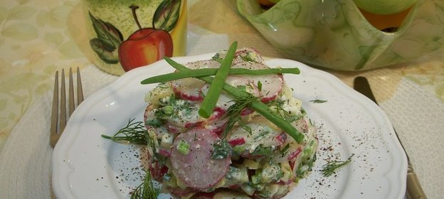 Салат из брынзы фото