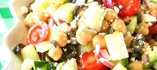 Вкусный греческий салат рецепт с пошагово