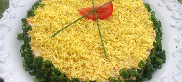Салат мимоза с кукурузой и сыром рецепт