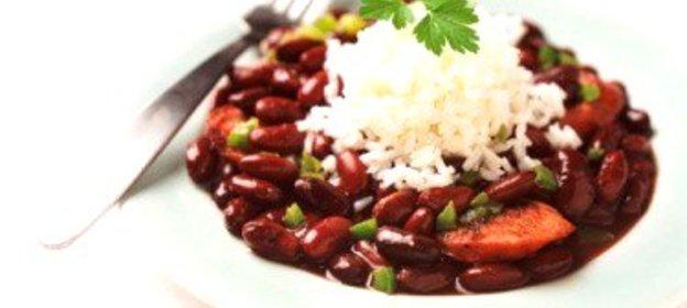Рецепт салата из красной фасоли с