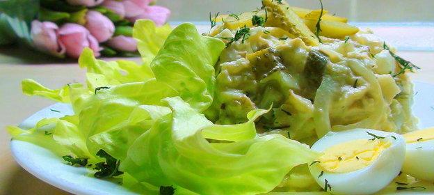 Рецепт салата треской горячего копчения