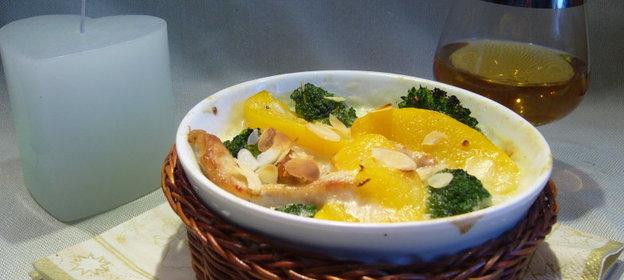 Запеканка с брокколи и курицей рецепт с пошагово