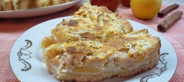 Яблочный пирог с творогом рецепт с фото пошагово в духовке