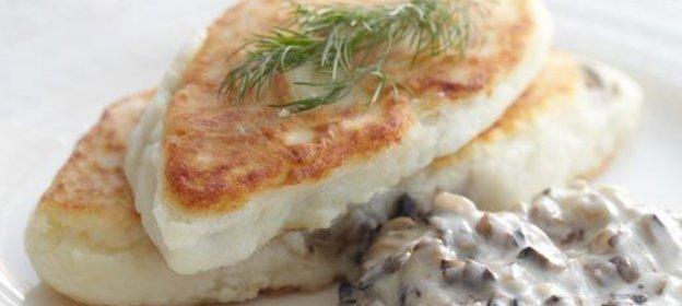 Рецепт картофельных котлет с грибной начинкой рецепт пошагово